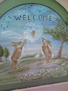 保育園の入口の絵