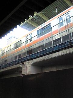JR中央線のホーム