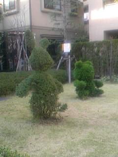 ウサギの植木