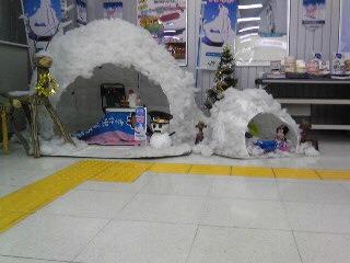 雪だるまの駅長さん