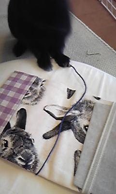 ウサ絵のブックカバー